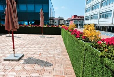 Aplicación de pared de terraza